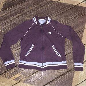 Nike Vintage Track Full Zip Purple Blue Size Med